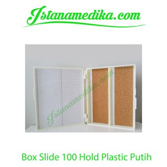 Box Slide 100 Hold Plastic Putih
