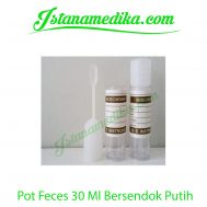 Pot Feces 30 Ml Bersendok Putih
