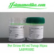 Pot Urine 60 ml Tutup Hijau LABWARE